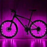 Ailiebhaus Bike Wheel Light Cycling Spoke Waterproof Light with 20 LED Pink