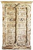 Orientalischer Kleiner Schrank Kleiderschrank Antik -1-148cm hoch | Marokkanischer Vintage Dielenschrank schmal | Orientalische Schränke aus Holz für den Flur, Schlafzimmer, Wohnzimmer oder Bad