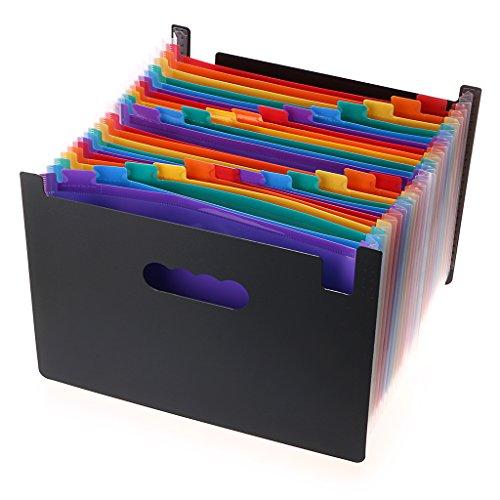 Sumnnacon Classeur 24 Position pour Dossier, Conférencier, A4 papier, Document, Feuille d'examen, utile pour le Bureau, le Classe etc.(coloré)