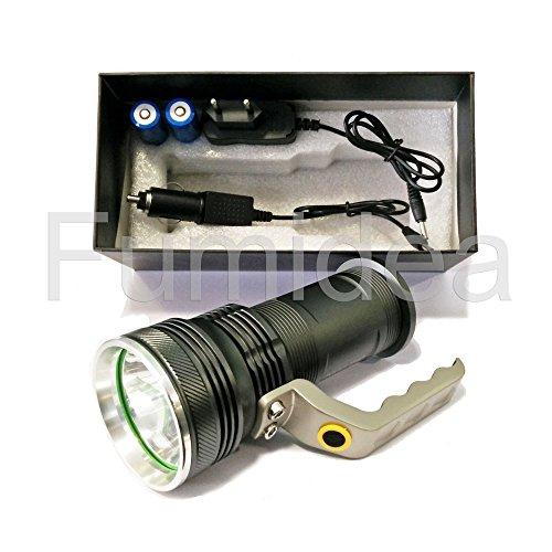 Super Power Taktische Taschenlampe für Profis, hohe Leuchtkraft, tragbar, wieder aufladbar, 800Lumen, LED CREE XML T6 T-801, aeronautisches Aluminium, wasserdicht, Weißlicht