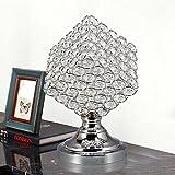 OOFWY E27 Cubo de Rubik Lámpara de mesa de cristal Continental Personalidad creativa Hotel Hotel Dormitorio Lámpara de boda Decoración de vidrio Lámpara de escritorio, B