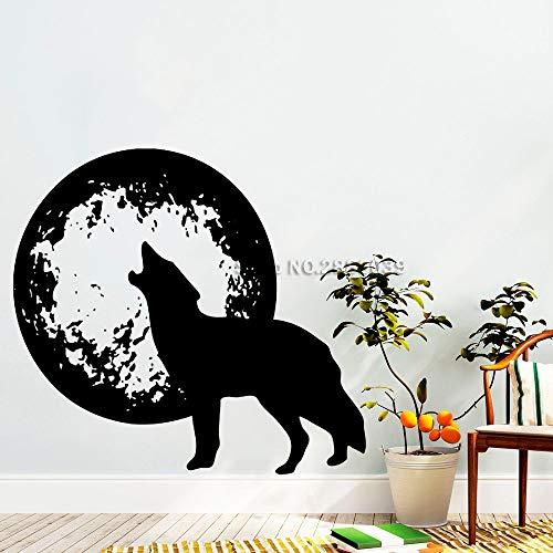 91 * 84 cm wolf heulen und planeten wandaufkleber tiere wandtattoo wolf wölfe wandtattoo vinyl tapeten schlafzimmer dekor arte Arte-dekor