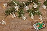 STERNENGLANZ Lichterkette ca. 115 cm mit LED-Leuchten Metall die perfekte Deko für den Tisch oder Baum