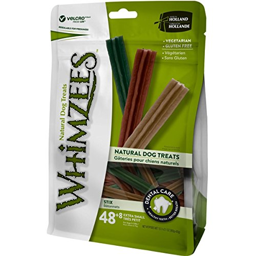 WHIMZEES Natural Dental Dog Chews Long Lasting, X Small Stix, 56 Pieces
