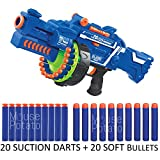 #10: MousePotato Blaze Storm Soft Bullet Gun with 20 Foam Bullets & 20 Suction Dart Bullets Battery Operated Gun (Blaze STORM50)