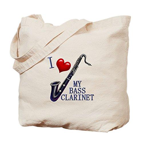 CafePress–I love my Bass-Klarinette–Leinwand Natur Tasche, Reinigungstuch Einkaufstasche Tote S khaki