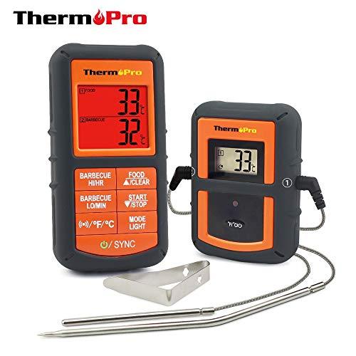BELVON 1pc ThermoPro 100M Remot Wireless Food Kitchen Thermometer