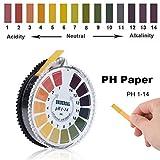 FMXYMC 5m 1-14 pH Alkaline Acid Indicator Meter Test Paper Roll for Water Urine Saliva Soil Litmus Paper Testing Measuring