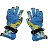 Phenovo Women Winter Sports Waterproof Motorcycle Snow Ski Gloves - Blue Camo M