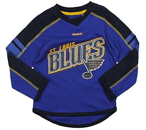 Reebok NHL St. Louis Blues Little T-shirt Jersey à manches longues Taille L (6x)–Bleu