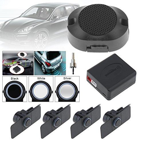Sensori di parcheggio auto reverse backup radar system assistenza originale flat sensori con ali(nero)