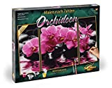 Schipper 609260603 609260603-Malen nach Zahlen Orchideen (Triptychon), 50 x 80 cm