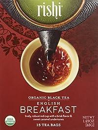 Rishi Tea - Organic English Breakfast, 15 tea bags
