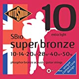 Rotosound super bronze (previously country gold) acoustic guitar stringsextra light 10-50