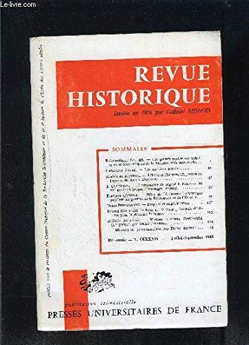 revue-historique-89e-anne-tome-ccxxxiv-fasc-i-juill-sept-1965-475-les-grands-problmes-politiques-et-conomiques-de-la-mditerrane-mdivale-l-39-inde-et-l-39-histoire-humanisme-et-argent--florence-au-xve-s-empires-et-imprialismes