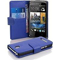 HTC Desire 500 Hülle in BLAU von Cadorabo - Handyhülle mit Kartenfach für HTC Desire 500 Case Cover Schutzhülle Etui Tasche Book Klapp Style in KÖNIGS BLAU