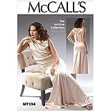 McCalls Schnittmuster Damen-Kleid und Gürtelim Vintage-Stil, 7154