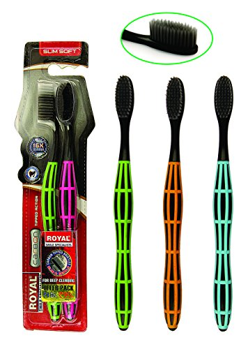 Royal Carbon Twin Pack Tooth Brush (Soft)