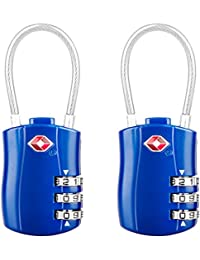 Diyife TSA Luggage Locks, [Newest Version][2 Packs] 3-Digit Security Padlock, Combination Padlocks, Code Lock for Travel Suitcases Luggage Bag Case etc.(Blue)