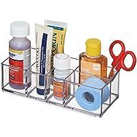 mDesign Organizzatore Armadietto Medicine da Bagno, per Pinzette, Forniture Mediche,