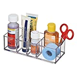mDesign Organizzatore Armadietto Medicine da Bagno, per Pinzette, Forniture Mediche, Lenti a contatto, Batuffoli di Cotone - Trasparente