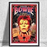 yhnjikl Retro David Bowie Banda de música Rock Cantante Estrella Cartel e Impresiones de Arte de la Pared Pinturas de Pared Cuadros para Sala de Estar decoración para el hogar 40X60 cm Sin Marco