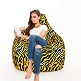 Urban Gifts Cotton Canvas Printed Bean Bag XXXL with Beans Filled