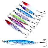 SODIAL 7 pz maschere di esche da pesca di mare metallo Crankbaits Pesce Tackle 7 cm 21g
