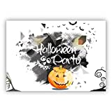 1 Gruselig schöne Halloween Einladungskarte mit Kürbis: Halloween Party