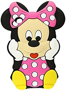 JBG beau rouge Minnie Mouse Silicon Case 3D Soft Cover compatible pour Samsung Galaxy S4 SIV i9500 Avec 3D Minnie Mouse Stylus Pen