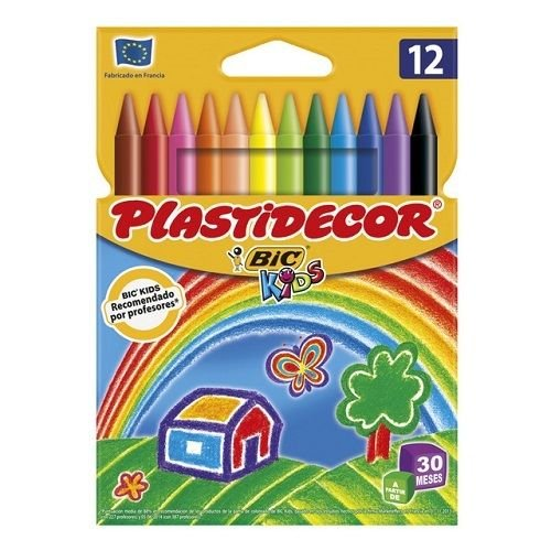 5x Estuches de 12 Ceras Plastidecor BiC Kids para colorear