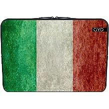 """Funda de neopreno portátil 13.3"""" pulgadas - Bandera De Italia - Retrostyle by BruceStanfieldArtist"""