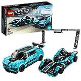 LEGO Speed Champions- Panasonic Jaguar Racing GEN2 e Jaguar I-Pace eTROPHY Modelli Che Corrono in Formula E con 2 Minifigure Set di Costruzioni per Bambini +8 Anni, 76898