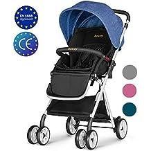 Besrey Silla de paseo ligera Cochecito de bebe plegable Carrito para bebes de 6 meses hasta