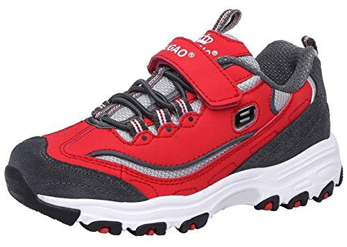 Wealsex Unisex-Kinder Sneakers Damen Herren Laufschuhe Rot
