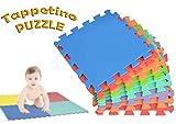 2814 Tappeto da gioco puzzle componibile colorato 10 pezzi 30x30cm. MWS