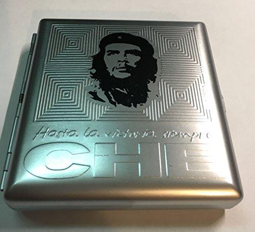 10 Che (Che Quadrat Zigarettenetui Zigarettendose Zigaretten, Etui ca. 10 x 10 x 2 cm, wadle-shop)