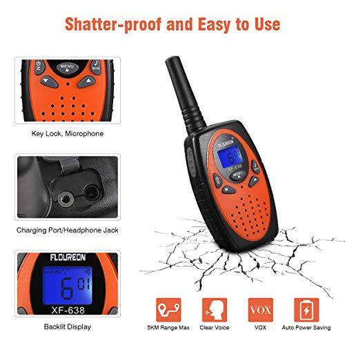 Zoom IMG-1 floureon 4x ricetrasmittente pmr radio