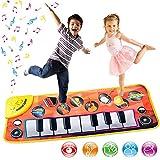 Tappetino musicale con 8 strumenti, tappetino per tastiera e pianoforte, giocattolo educativo per bambini
