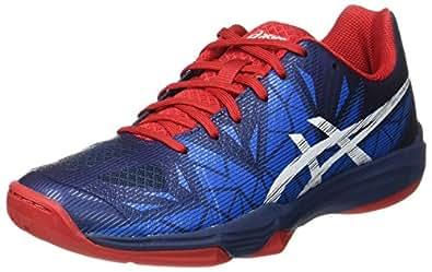 Asics Gel-Fastball 3, Chaussures de Handball Homme, Bleu (Insignia Blue/White/Prime Red), 42 EU