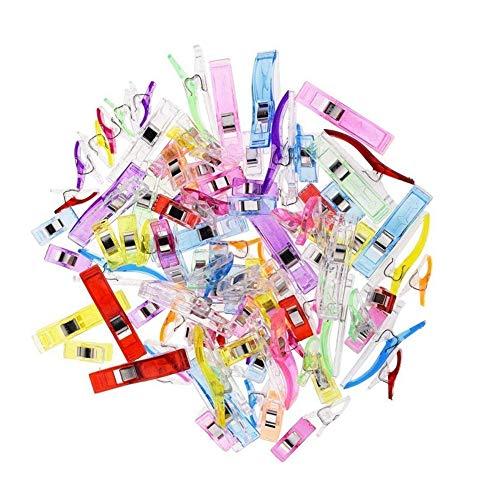 oße Kunststoff-Clips zum Basteln, Häkeln und Stricken 2,7 x 1 cm, 5,6 x 1,2 cm ()