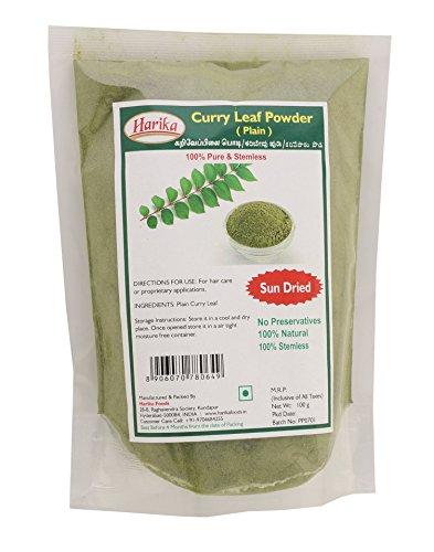 Harika Sun Dried & Stemless Plain Curry Leaf Powder 100G