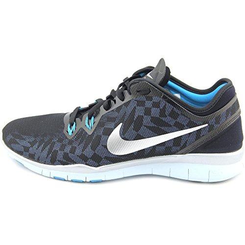 Nike Free 5.0 Tr Fit 5 Mtlc, Chaussures de Running Compétition Femme Black/Blue/Metallic Silver