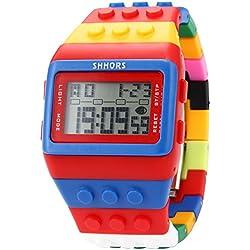 EASTPOLE LED090 - Reloj Digital Unisex, Correa de Goma, Multicolor, LED