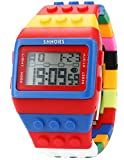 EASTPOLE LED090 - Reloj Digital Unisex, Correa de Goma, Multicolor, LED