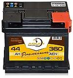 Autobatterie 12 V / 44 Ah - 360 A/EN 54465 Adler ers. 35 37 38 39 40 42 43 45 Ah
