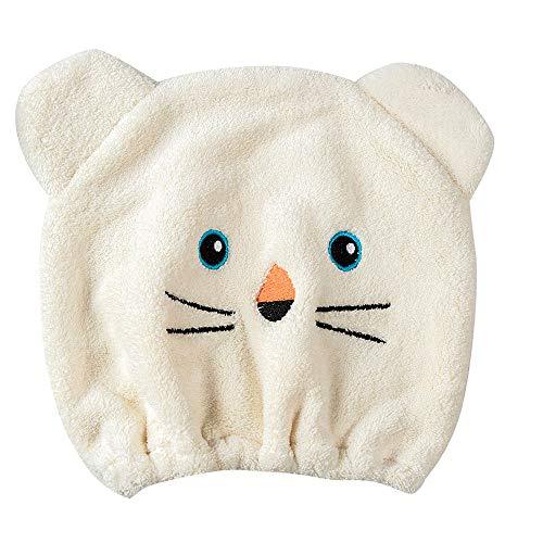 Rosennie Qualitäts Microfiber Hair Turban schnell trockenes Haar Hut gewickelt Handtuch Badekappe Trockenhauben Wasser schnell trocknende Duschhaube Badezimmer Handtuch Kopftuch saugfähigen (Beige)