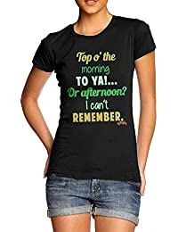 TWISTED ENVY Top o' The Morning To You ST. Patrick's Day Women's Novelty Cotton T-Shirt
