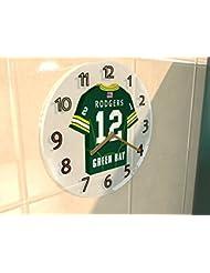 AARON RODGERS GREEN BAY PACKERS NFL HORLOGE MURALE FOOTBALL AMERICAIN - EDITION LIMITEE LES LEGENDES DU SPORT