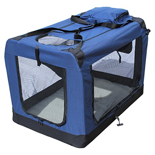 Transportin para perros plegable (102 x 69 x 69 cm) Yatek de entradas laterales y superiores con alta visibilidad, confort y seguridad para tu mascota
